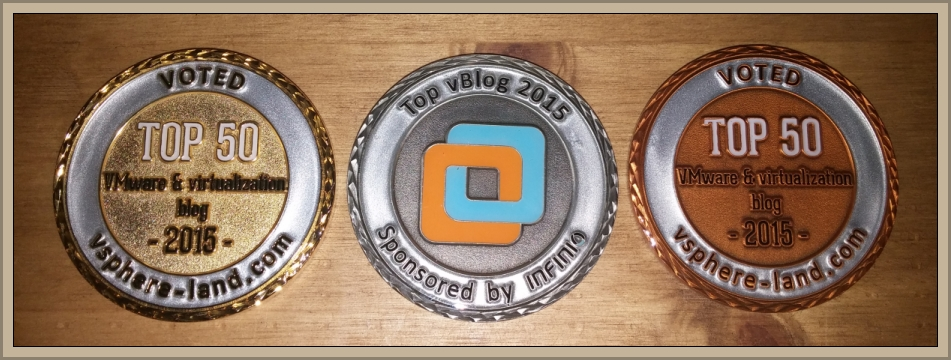 Example of Custom Coins for Top vBlog  2015