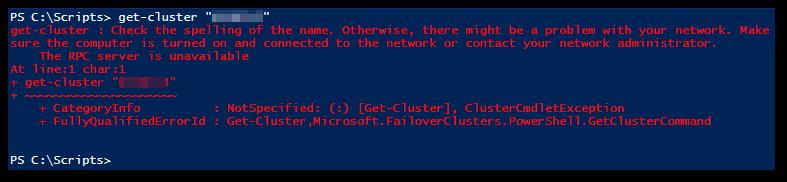 Get-Cluster Error