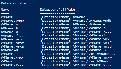 Using PowerCLI to Find Datastore with Missing VM - Notes of