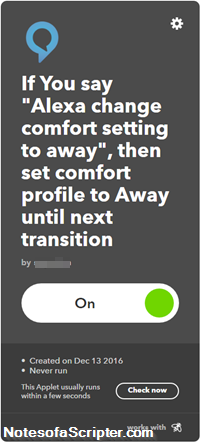 IFTTT Enable Applet