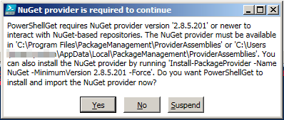 Prompt for upgrade NuGet