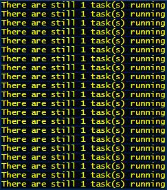 1 task still running