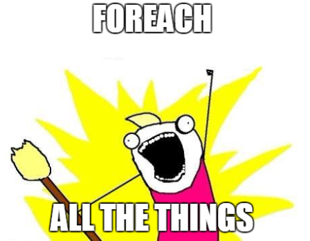 foreach all the things